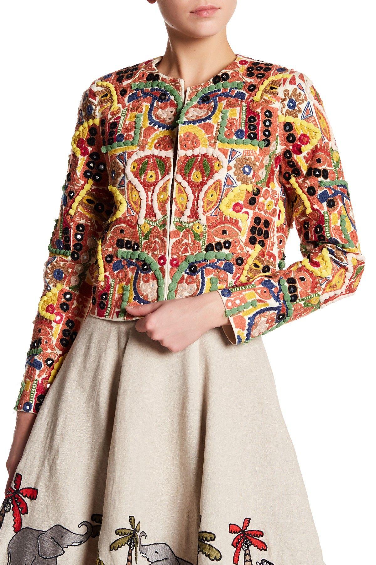 Yoana baraschi celestial garden lace dress nordstrom rack - Kidman Embroidered Jacket