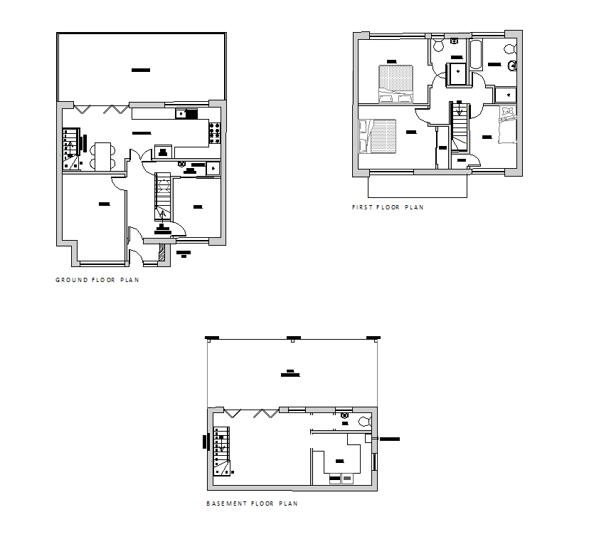 3 storey house plans free 2d cad models cad blocks free for Car plan cad