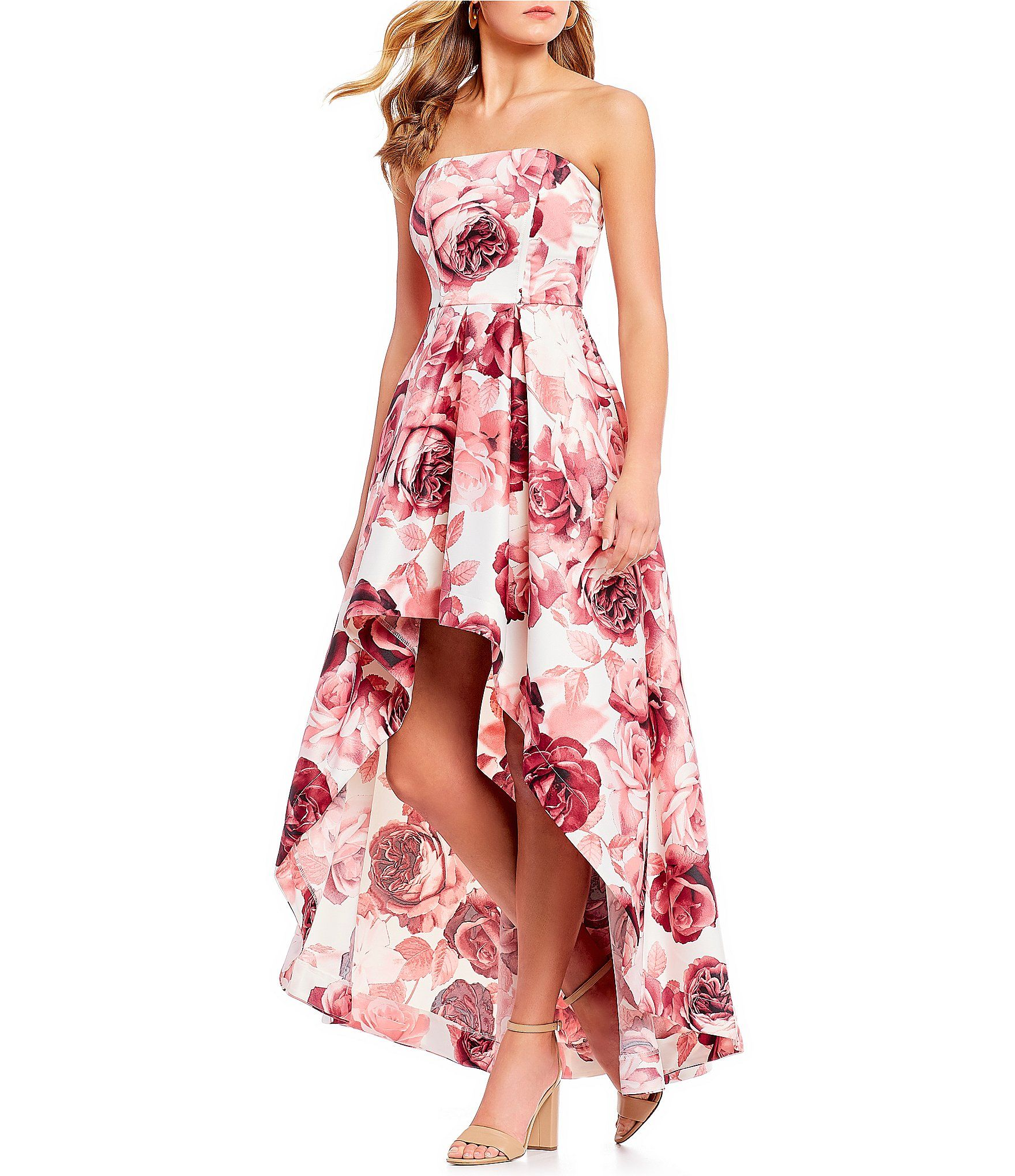 92cc8c3fd Shop for Xtraordinary Strapless Floral Print Long High-Low Dress at  Dillards.com. Visit Dillards.com to find clothing, accessories, shoes,  cosmetics & more.