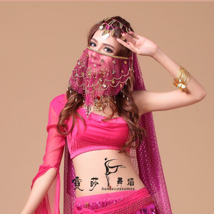 2014 velo danza del vientre danza decoración accesorios de danza del vientre ropa danza Veil envío gratis(China (Mainland))