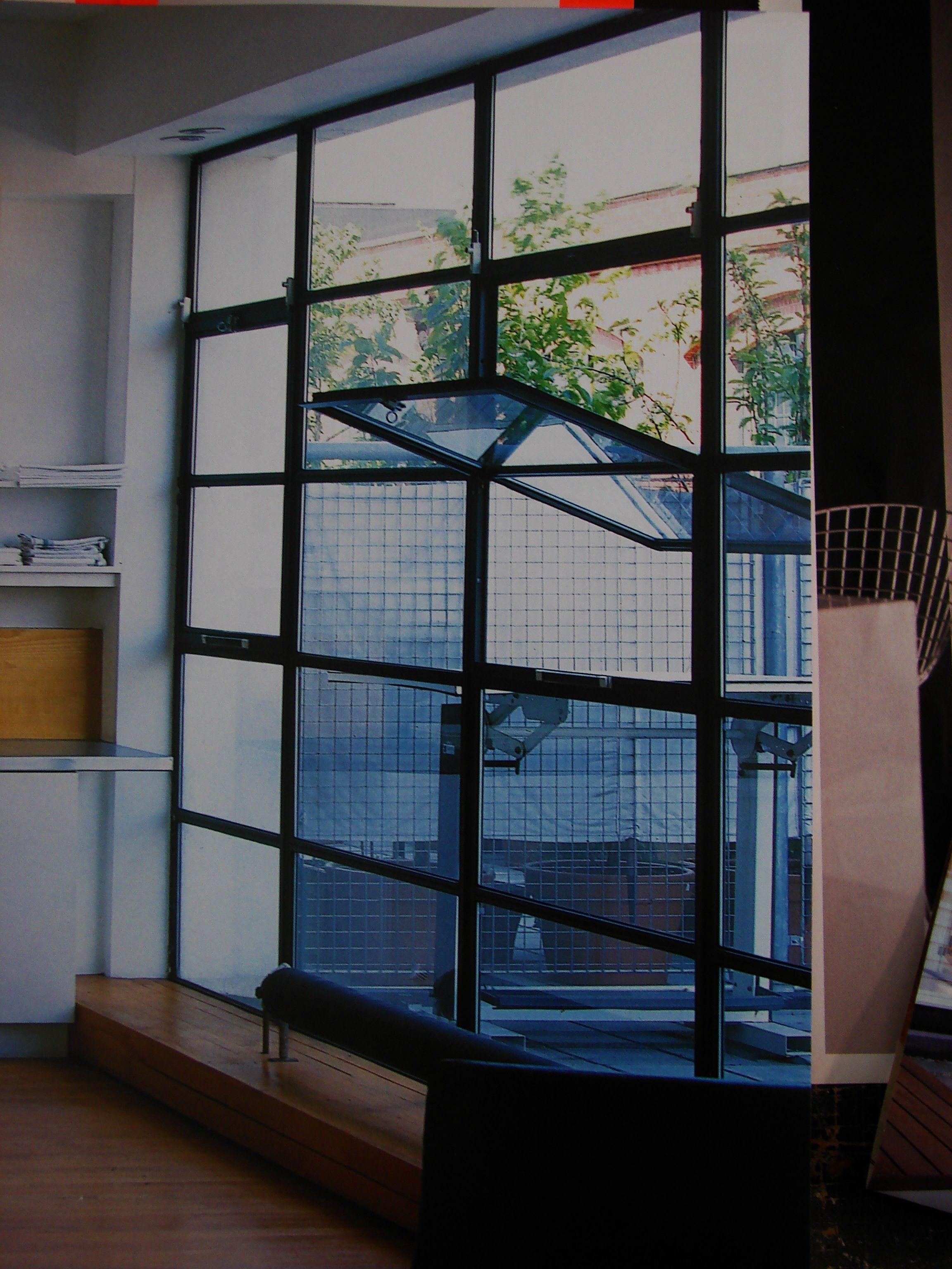 Black Iron Paned Windows