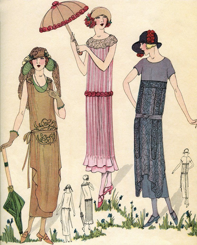 Illustration Of Women In 1920s Fashion Art Deco Fashion 1920s Fashion Roaring Twenties Fashion