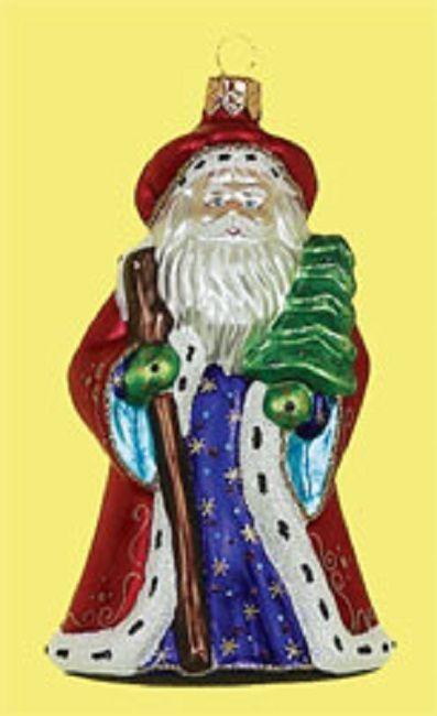 Old Fashioned Santa Gl Christmas Tree Ornament
