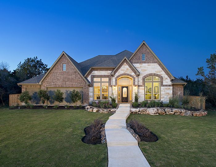 Perry Homes The Preserve Of Mission Valley Model Home Design 3714w New Braunfels Tx