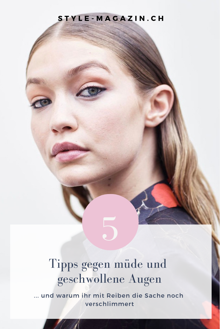 Diese Tipps helfen gegen müde und geschwollene Augen