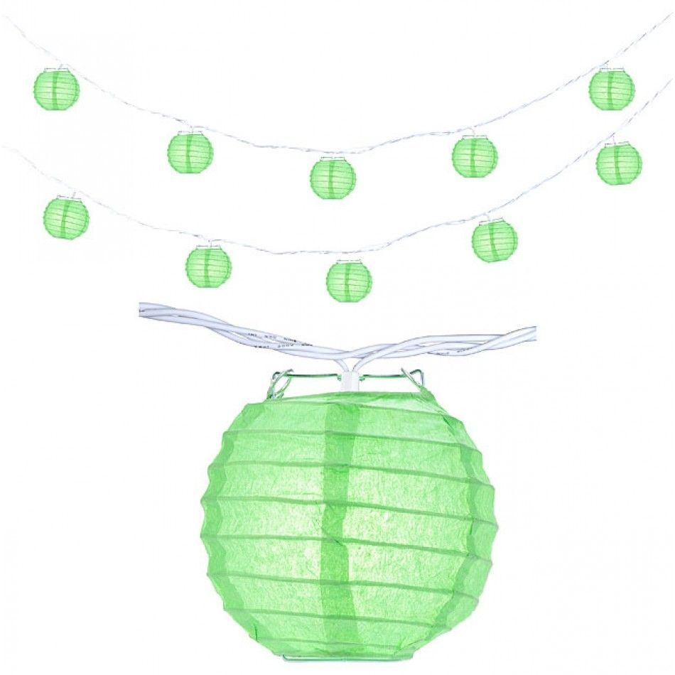 Mini Lanterns String Lights BULK - Grass Green [247-5PTYSGG Grass ...