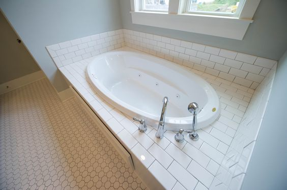 Subway Tile Deck Tub Remodel Tile Tub Surround Master Bathroom Renovation