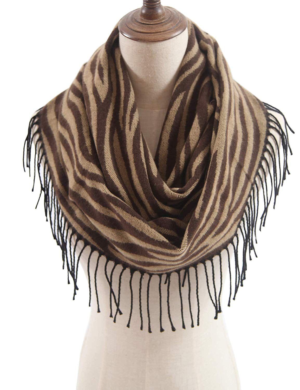 Women/'s Soft Lightweight Infinity Scarf Stripe Circle Loop Scarves Neck Wrap