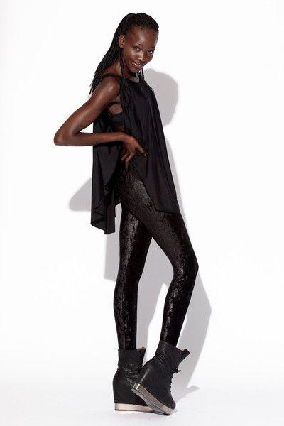 Black Velvet Leggings - BlackMilkClothing