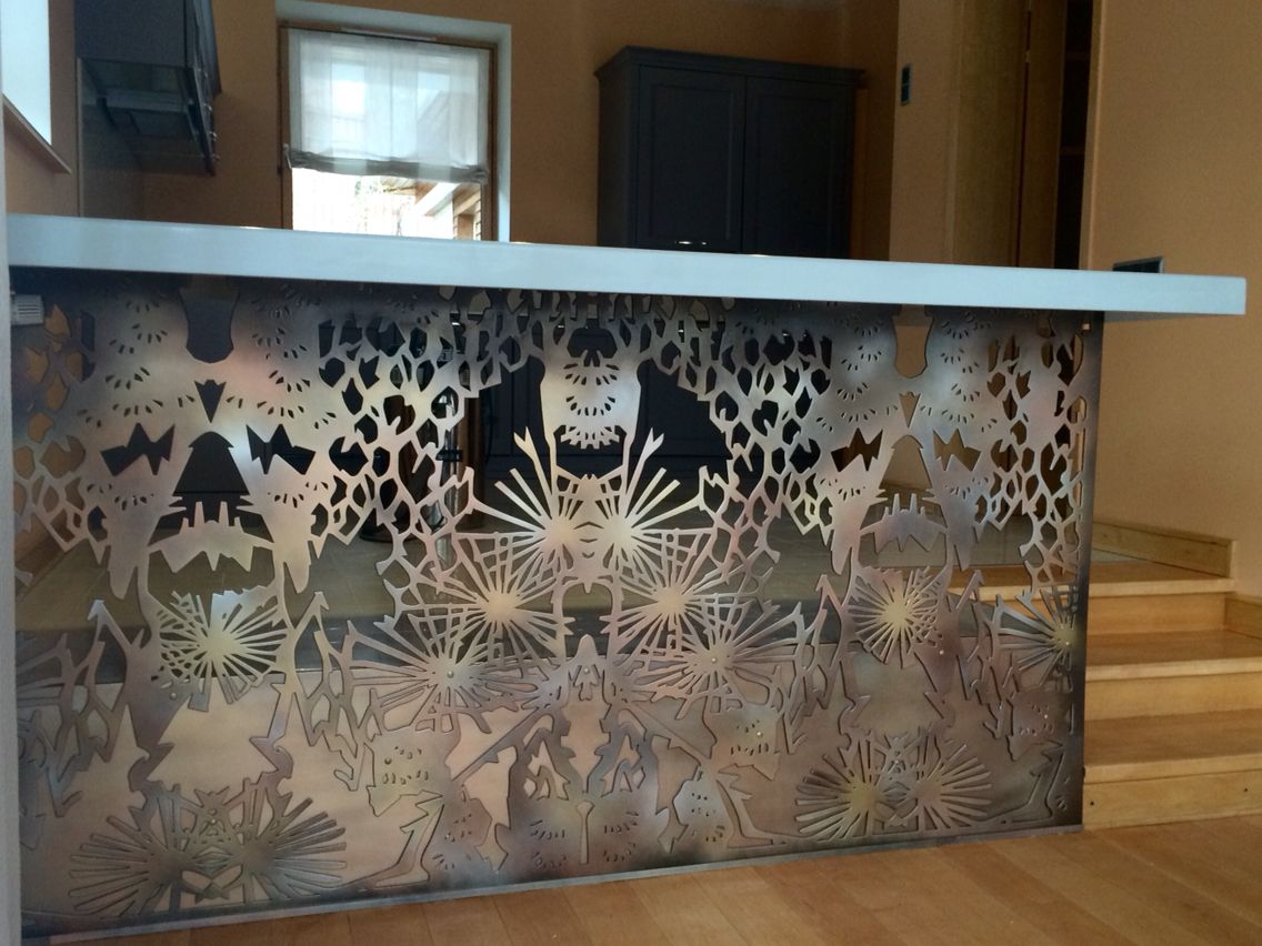 Some laser cutting inspiration. You don't see this everyday. A laser cut bar table design. Let us know if you need any custom work done