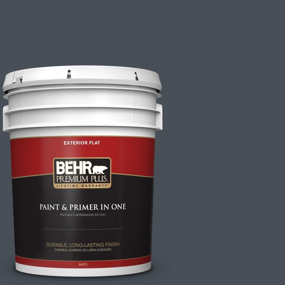 BEHR Premium Plus 5 gal. #PPU25-22 Chimney Flat Exterior Paint