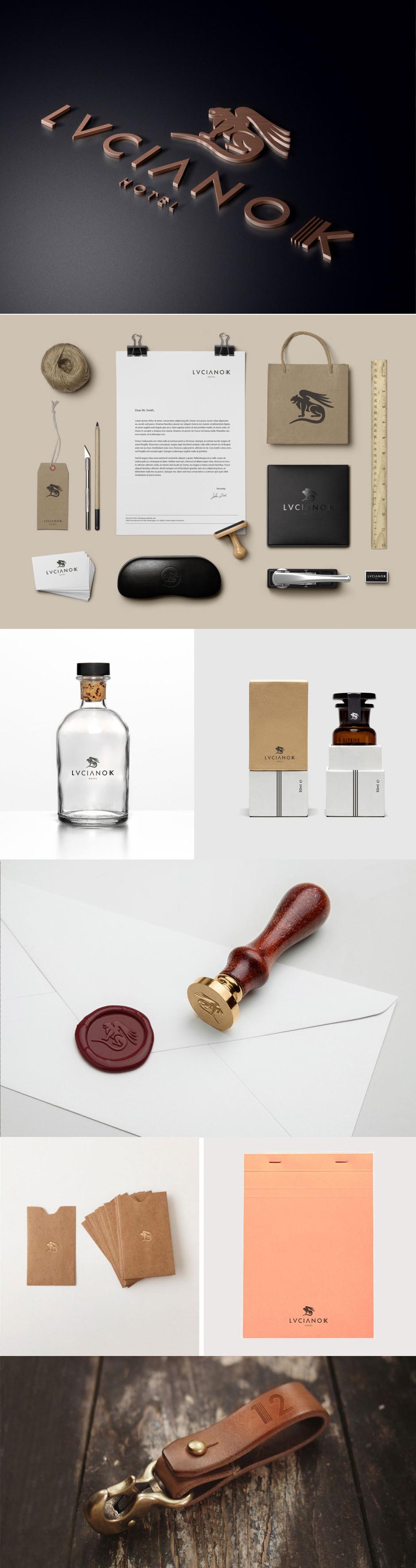 Design by otrosperez.com  Brand for a boutique hotel in Santiago, Chile