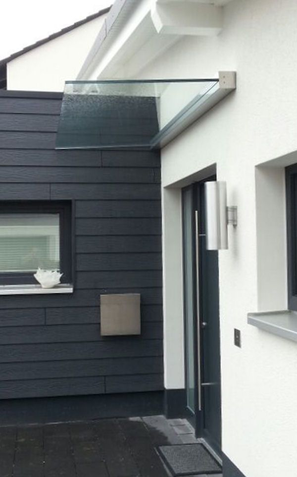 freitragendes glas vordach dura plus mit dachneigung door canopy pergolas and doors. Black Bedroom Furniture Sets. Home Design Ideas