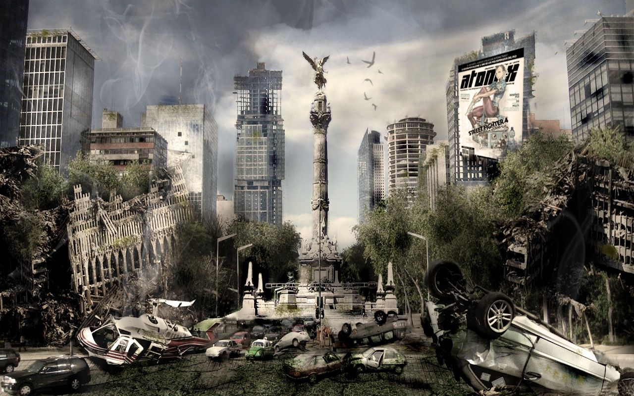 Explore The Trashed Magnificence Of Dystopia In These Wallpapers Post Apocalyptic Post Apocalyptic City Post Apocalypse