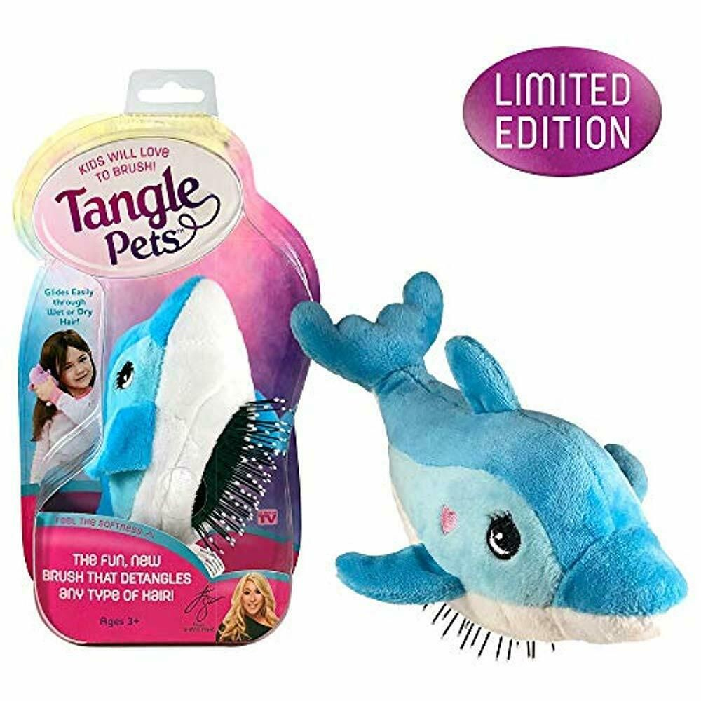 Tangle Pets Fin The Dolphin The Detangling Brush Plush Great Any