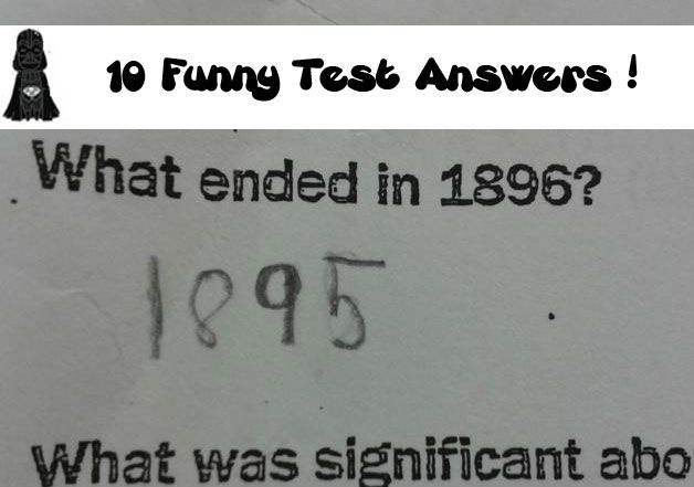 10 Funny Test Answers
