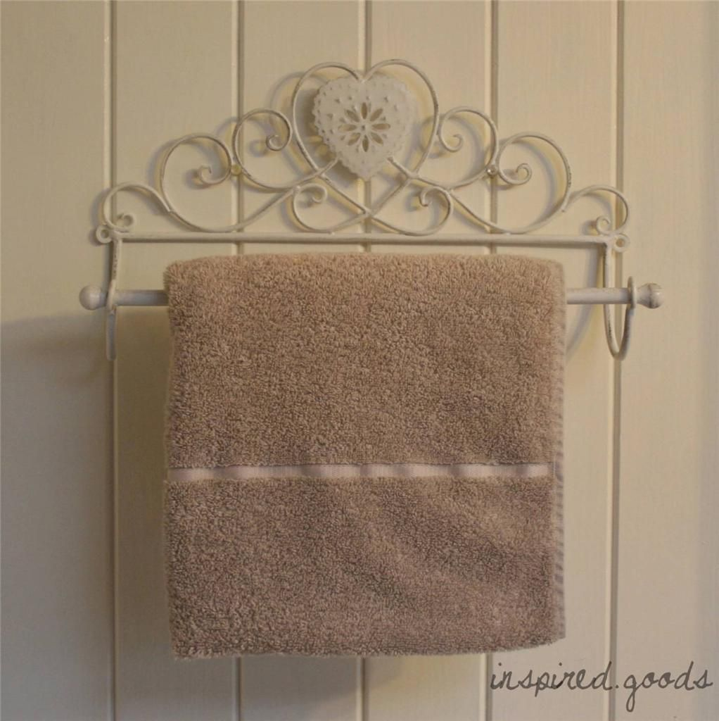 Details About Vintage Metal Heart Towel Rail Shabby Chic