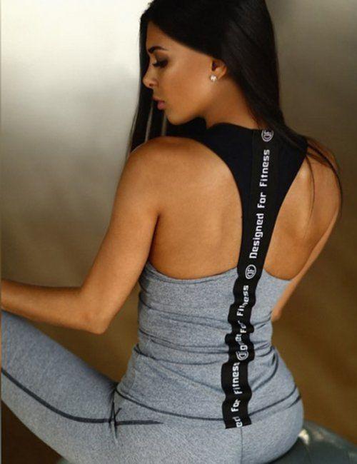 Activewear Gray Top and Pants Set