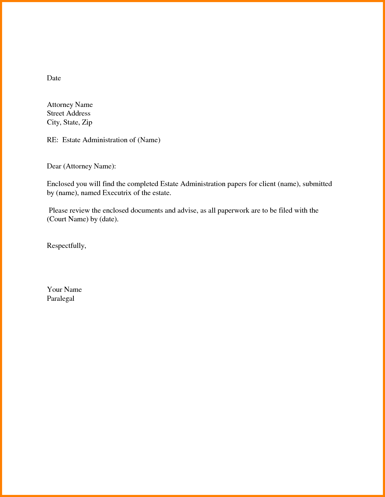 Quick Cover Letter Template