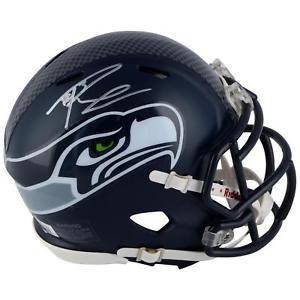 Russell Wilson Seattle Seahawks Autographed Riddell Speed Mini Helmet SMI  Football Helmets For Sale e6b740296
