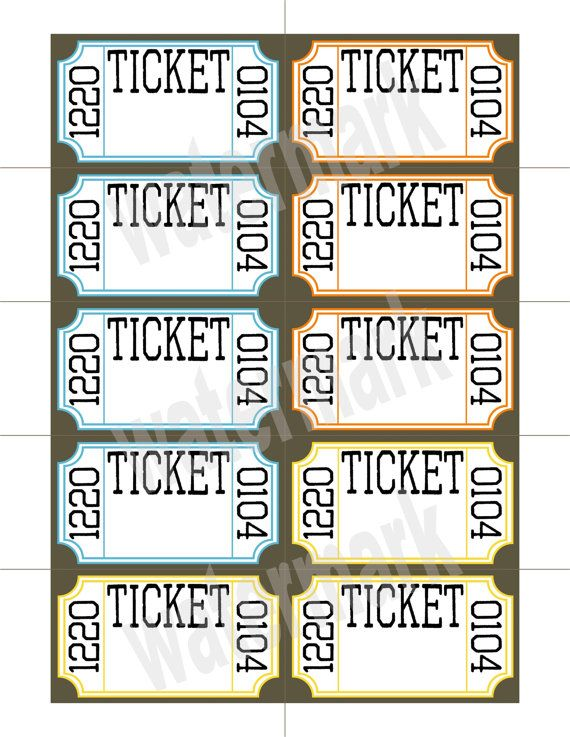 Free Printable Admit One Ticket Templates – Printable Tickets Free