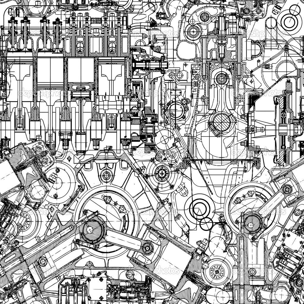 Image result for engine art sketch