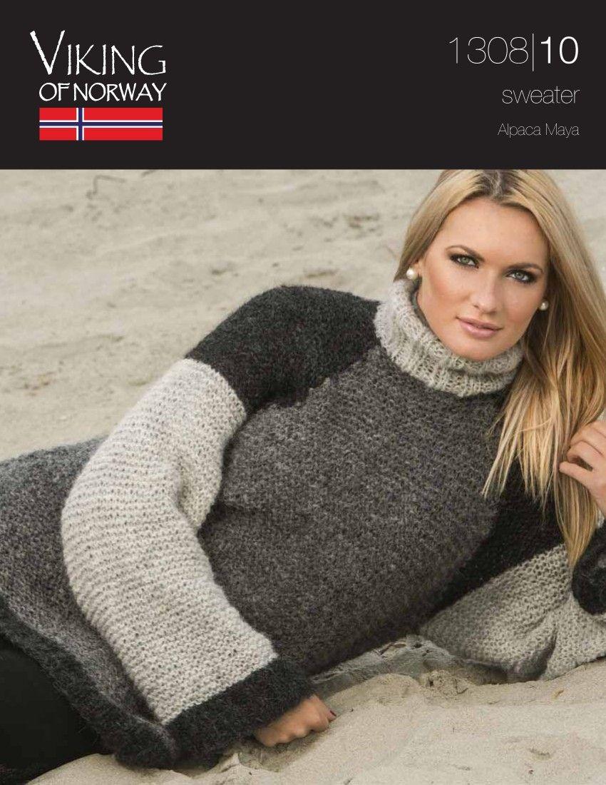 3176ac36907e9b Alpaca Maya Sweater – Knitting Fever free pattern