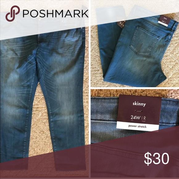 eff3c2798bc244 NWT 🆕 16W 24W Power Stretch Skinny Jegging Jeans New with tags. Plus size  women's Power Stretch Jegging Jeans. Ava & Viv Jeans Skinny