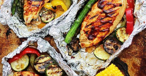 15 Easy Foil Packet Meals Perfect for Campfire Cooking  Food recipes Meals Clean eating recipescampfire
