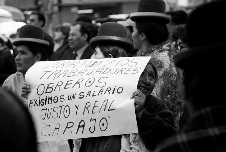 Protesta de los trabajadores de Salud La Paz Bolivia