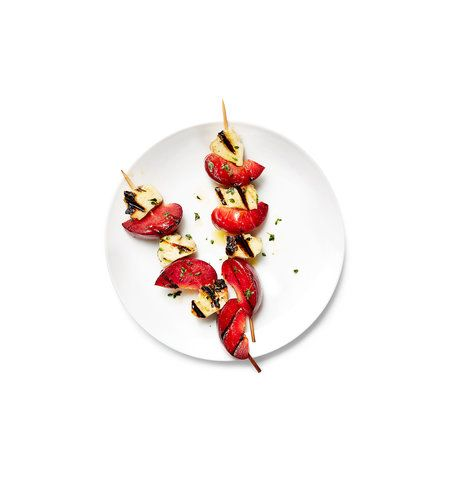Pluot and Cheese Skewers | RealSimple.com