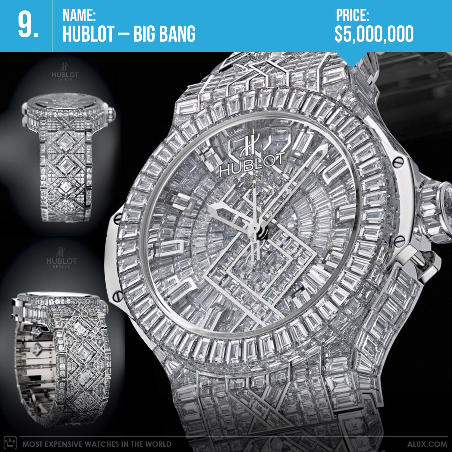 Most Expensive Watch In The World With Price >> Most Expensive Watches In The World 2017 Hublot Big Bang Diamond