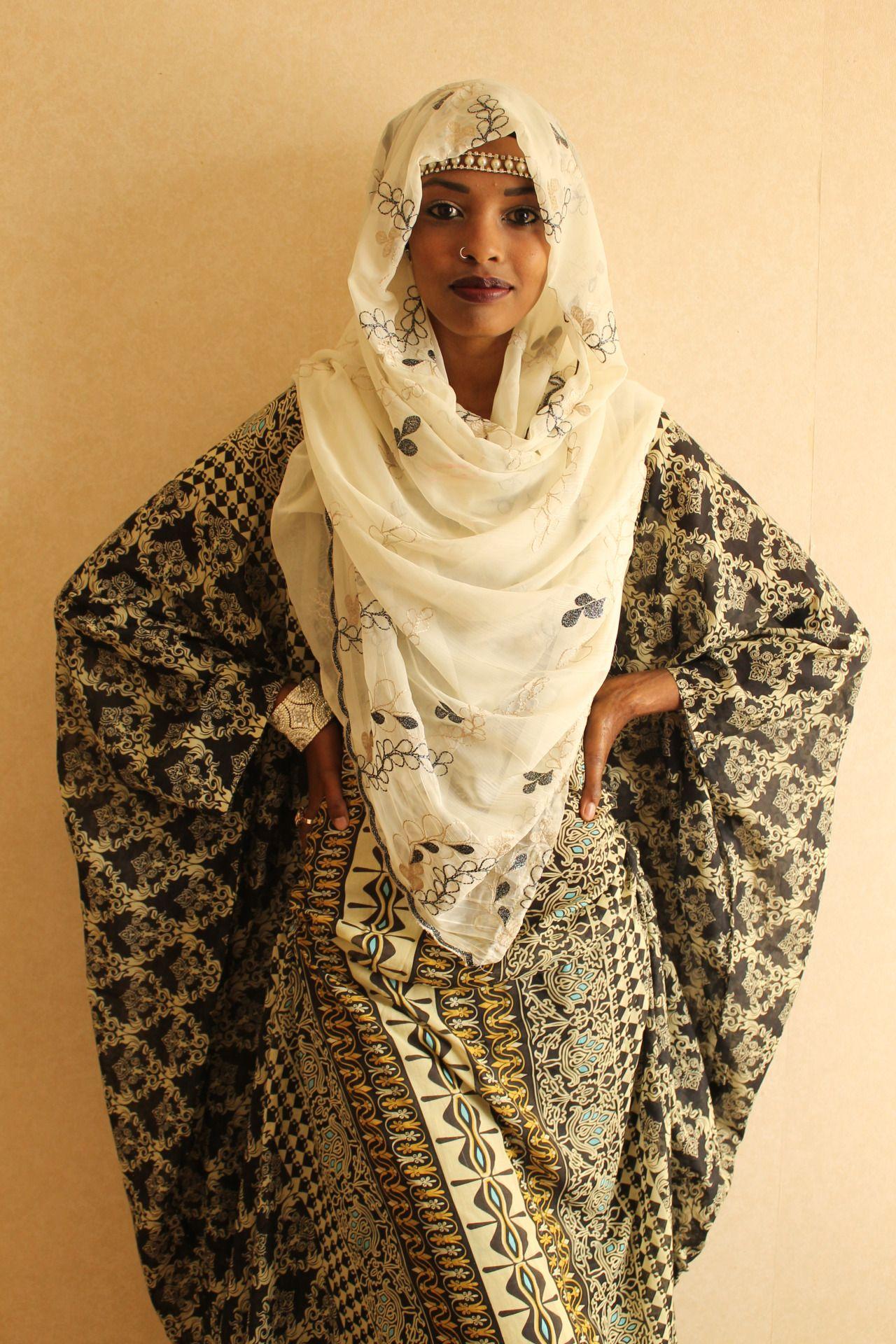 Somali Muslim Wedding Dresses with Hijab