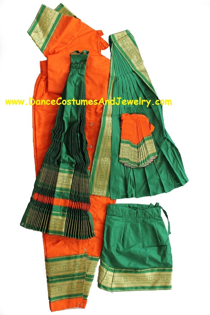 ... Bharatanatyam costume readymade art silk OrgGrn36 $ 119.90 (//.dancecostumesandjewelry.com/bharatanatyam-costume-readymade -art-silk-orggrn36/)  sc 1 st  Pinterest & Bharatanatyam costume readymade art silk OrgGrn36 | Bharatanatyam ...
