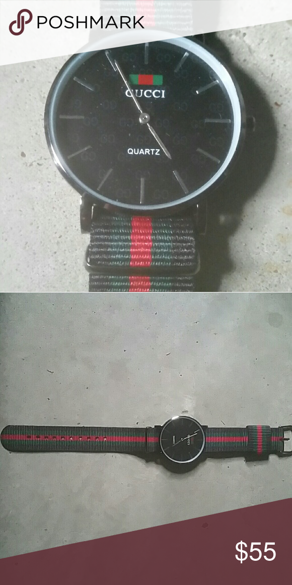 2df8d5b01d0 Vintage Red Green Gucci Quartz Watch New Vintage Gucci Red Green Quartz  Watch Will be shipped same or next day Check out my other listings Gucci  Accessories ...