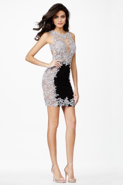 JVN by Jovani Short Black Dress JVN27585 | Cocktail Dresses ...