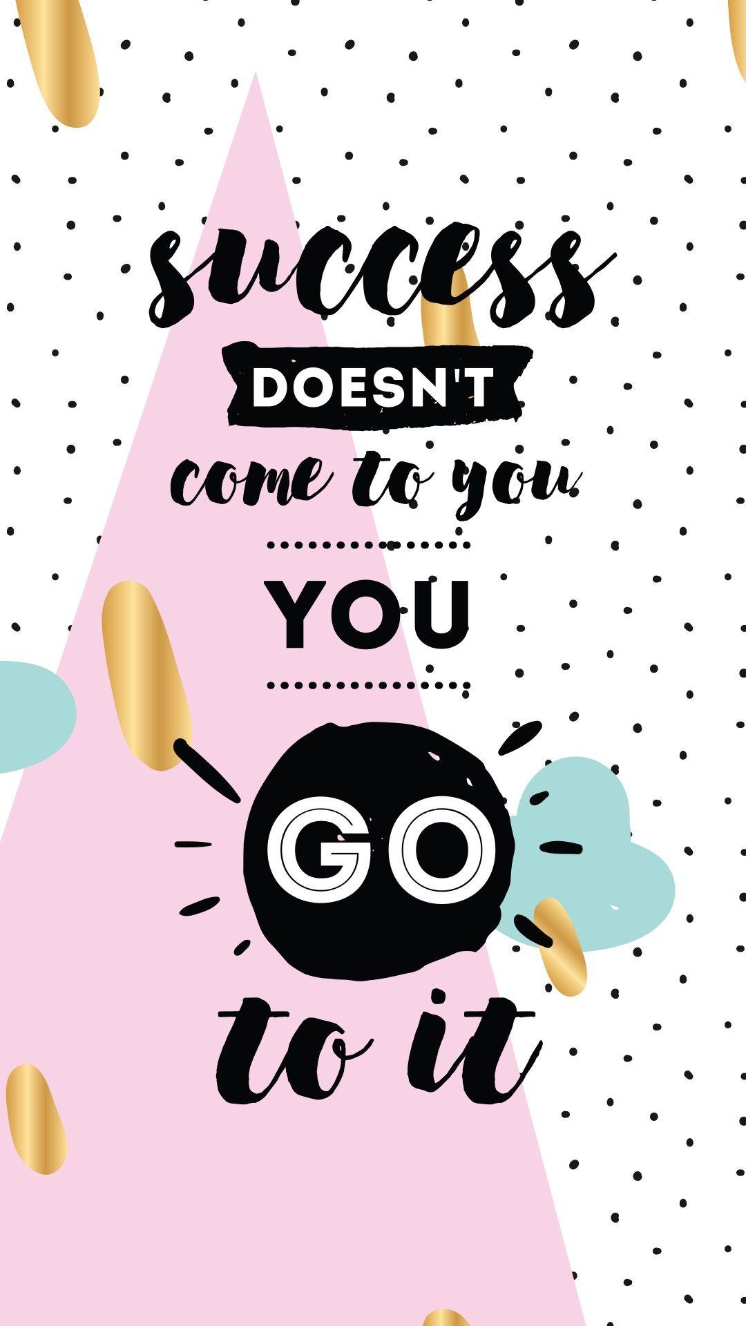 El Exito No Vine A Ti Ve Por El Wallpaper Quotes Inspirational
