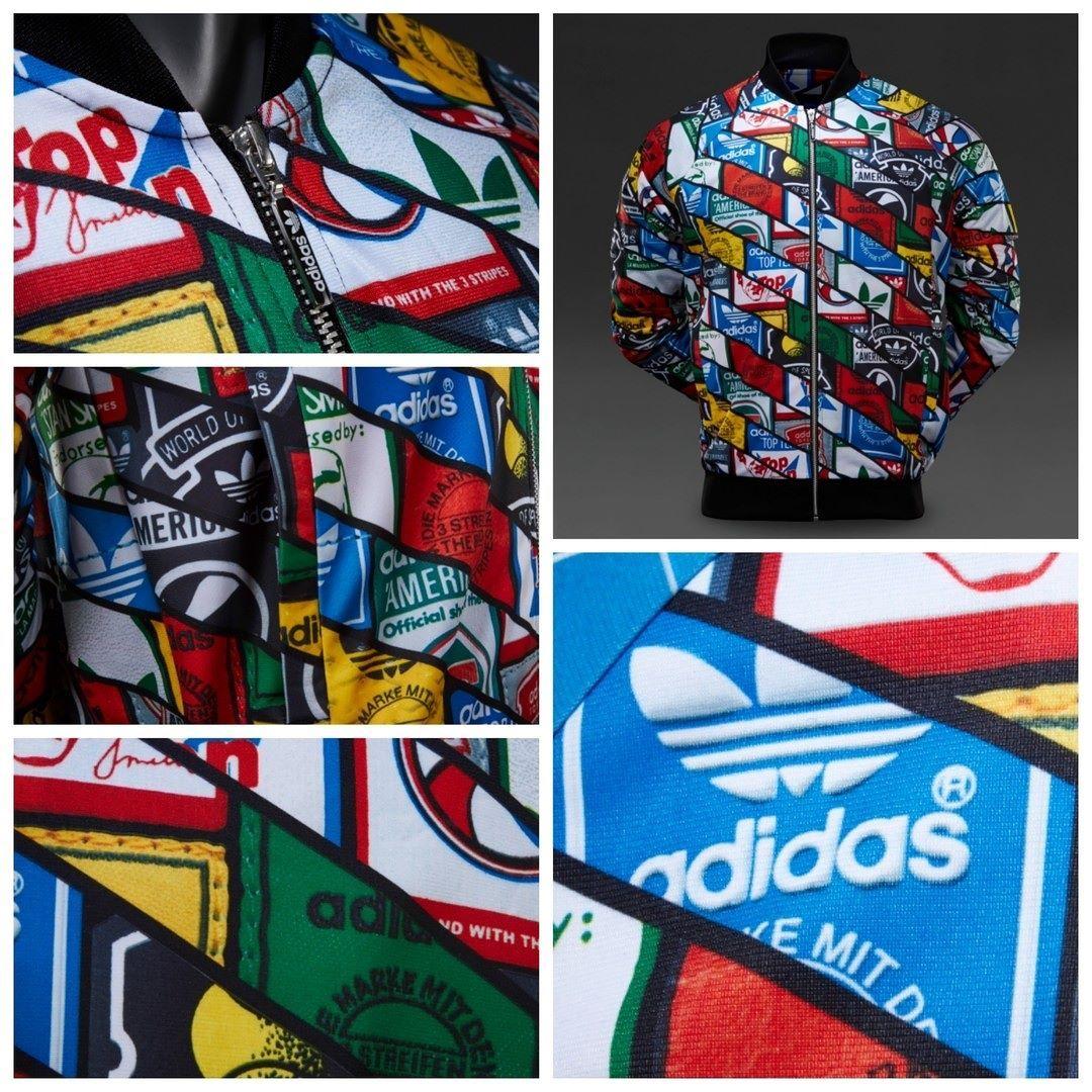 low cost 75e46 4e75f adidas Originals Mens Labels AOP Superstar Track Top - Black قیمت بعد از  حراج  410000