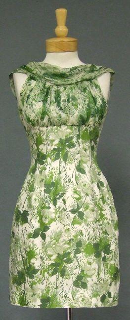 Vintageous, LLC - Green Floral Silk 1960's Mini Dress, $175.00 (http://www.vintageous.com/green-floral-silk-1960s-mini-dress/)