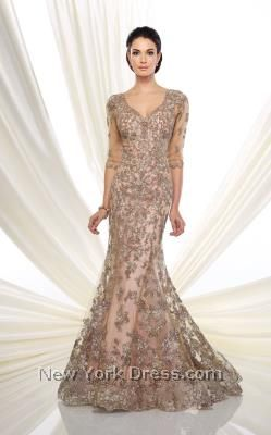Get fancy in this fantastic evening gown by Ivonne D 216D52. The chic illusion…