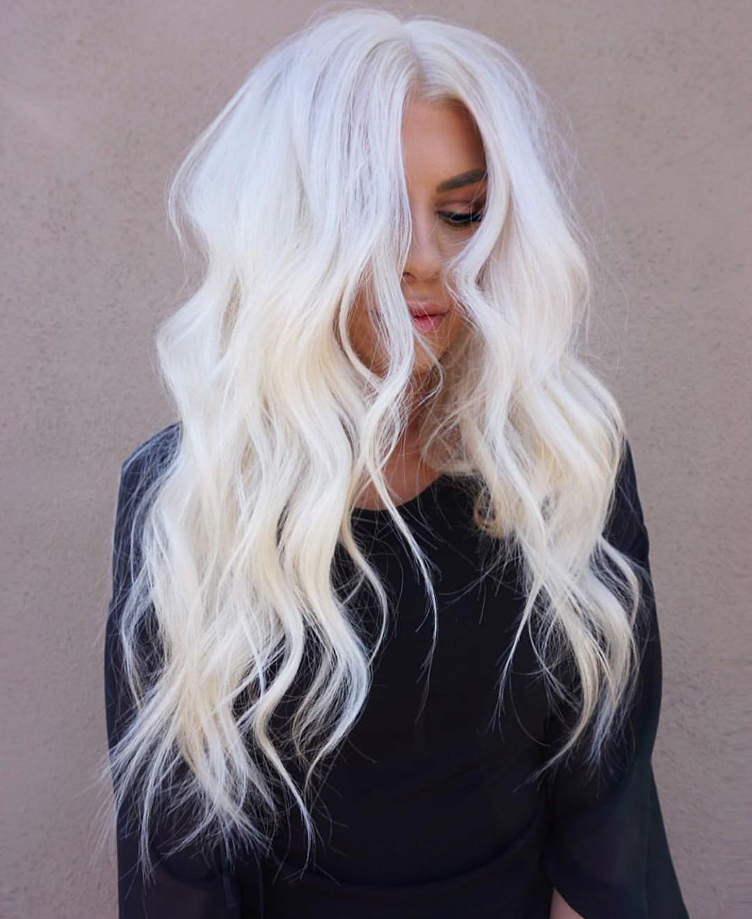Hair On Instagram Maybe She S Born With It Maybe It S Maggimh Schwarzkopfusa Behindthechair Thebtct Hair Styles Icy Blonde Hair Platinum Blonde Hair