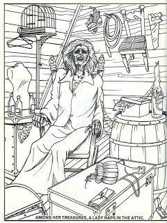 Horror Coloring Page Adult Horror Coloring Pages Pinterest