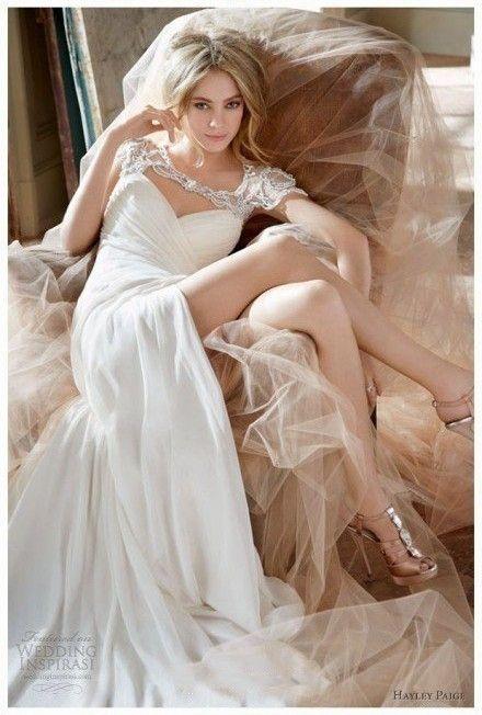 Hayley Paige Jordan Sheath Top 10 Most Beautiful Wedding Dresses Prettiest Lace Fashion Today