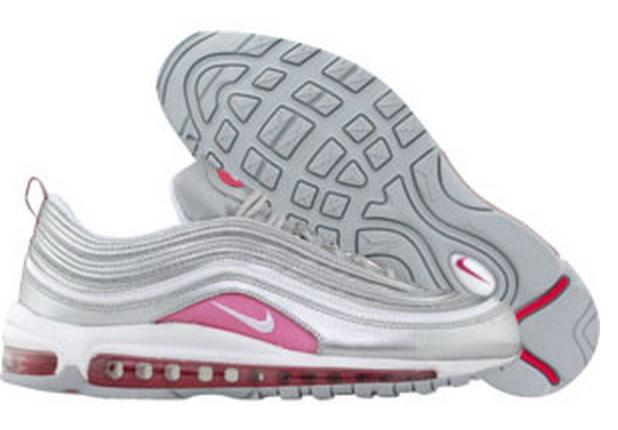silver air max 97 rosa