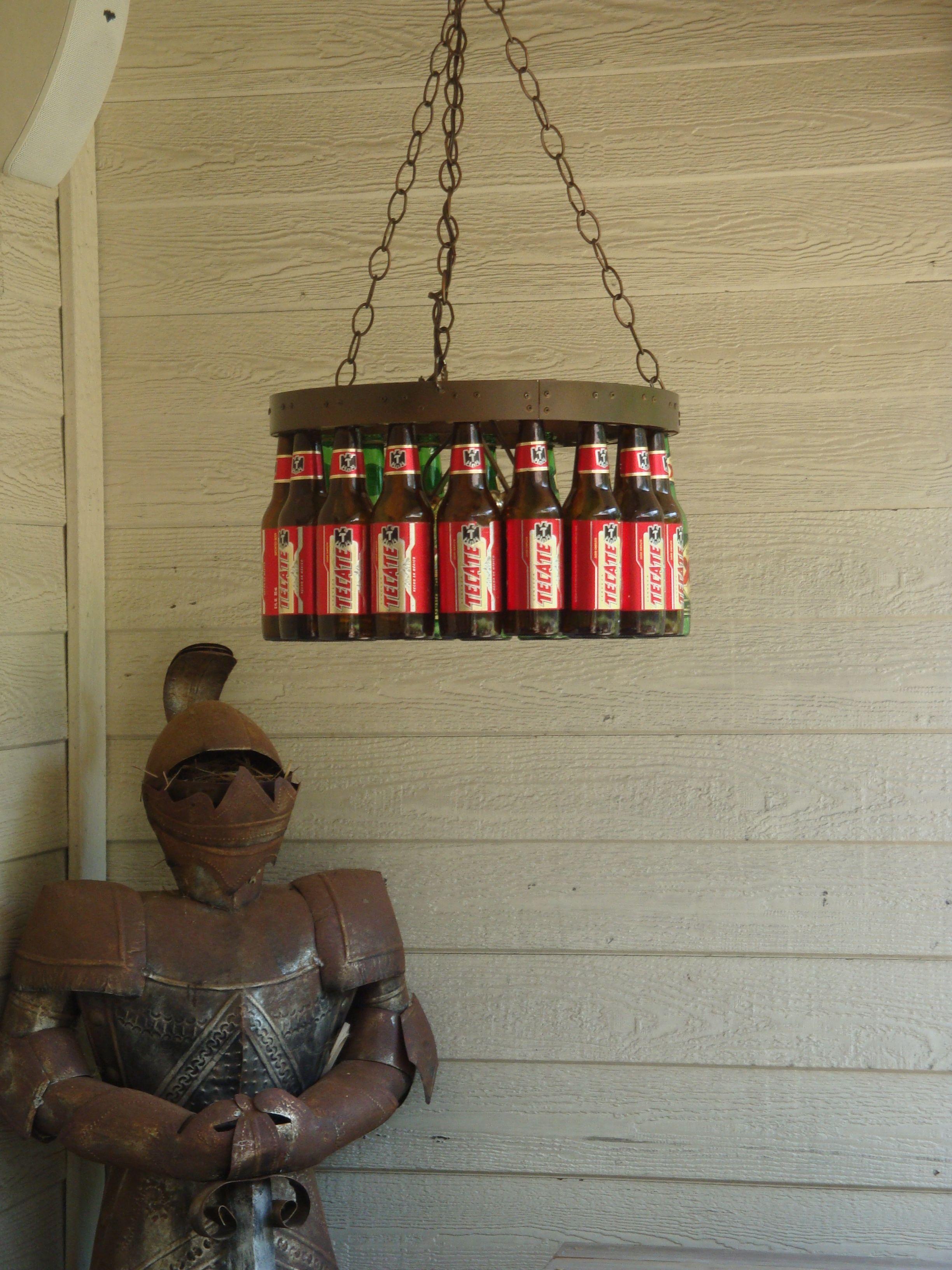 Beer Bottle Chandelier Kit 135.00 Bottle chandelier