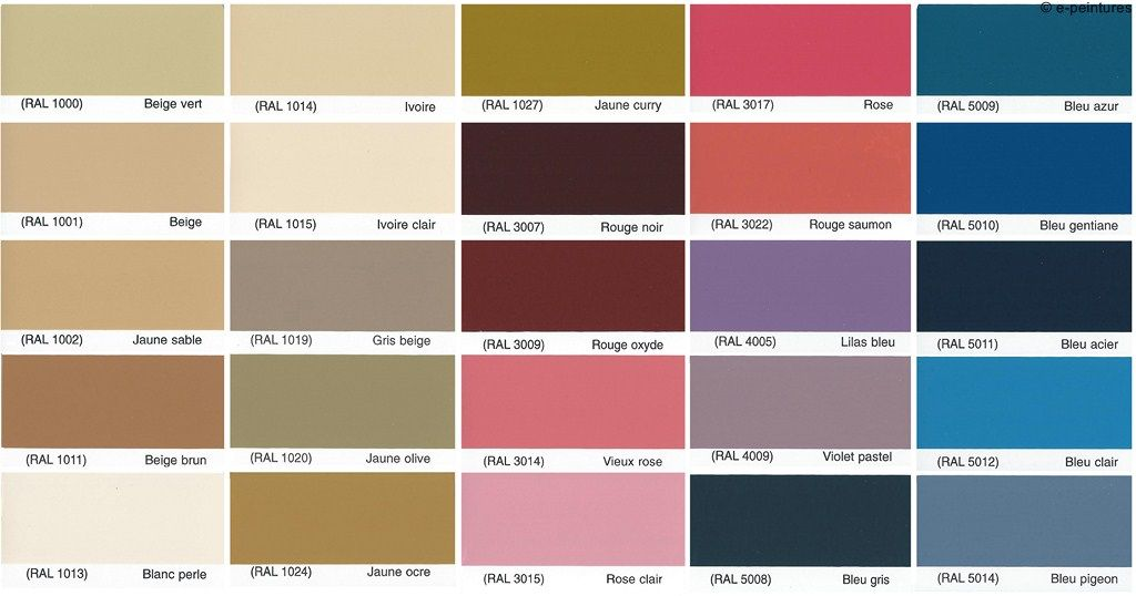 Couleur ral 2016 rennes design for Peinture colours nuancier