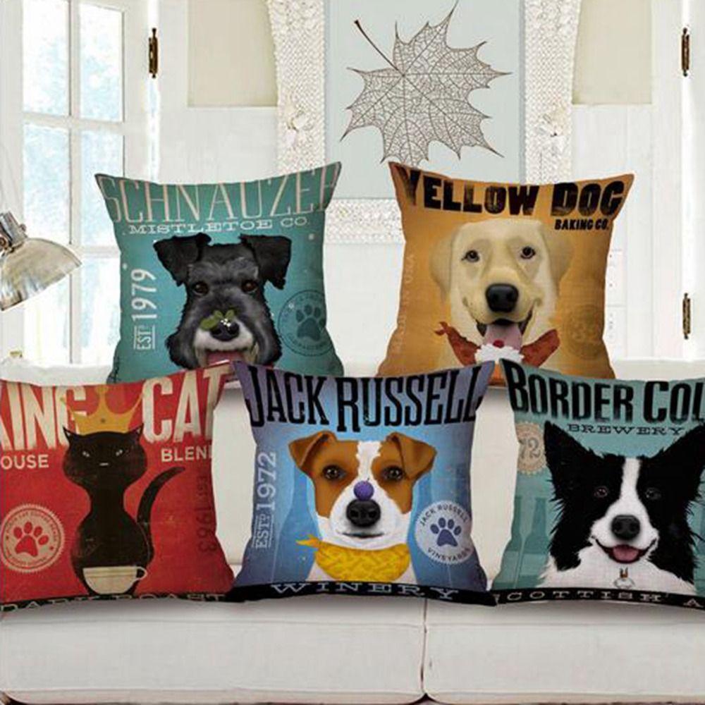 French Bulldog Cushion cartoon dog pillow decorative throw pillows ...