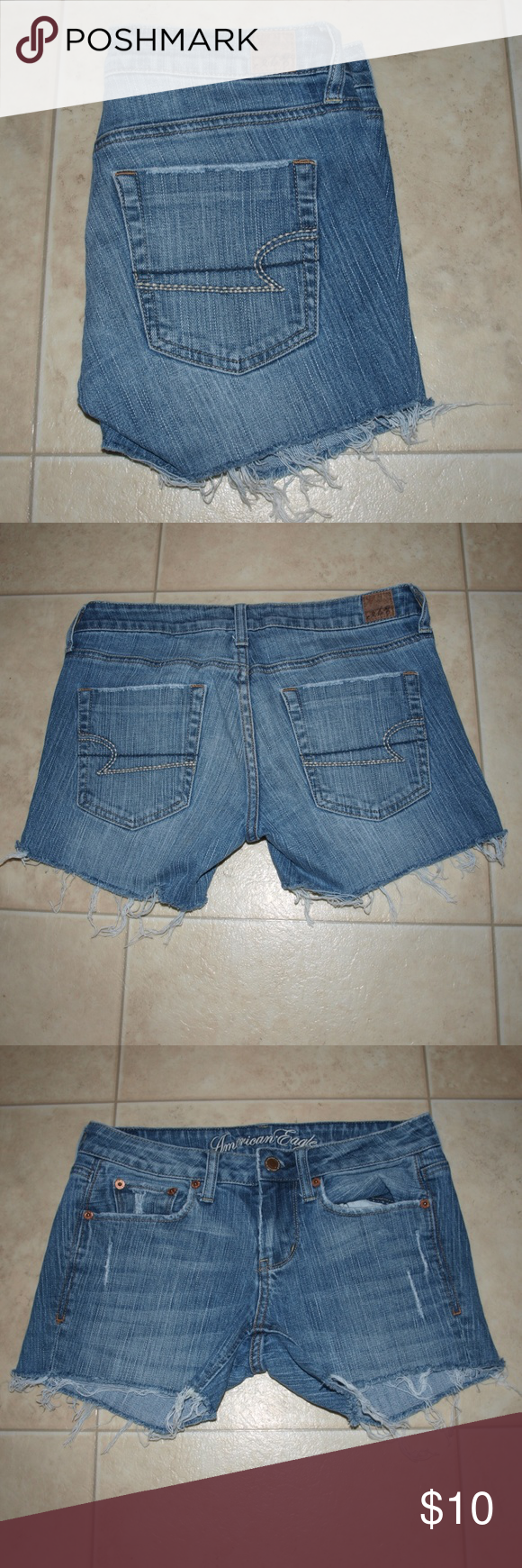 $6 AEO cutoff denim shorts Cutoff shorts! Great for summer! American Eagle Outfitters Jeans