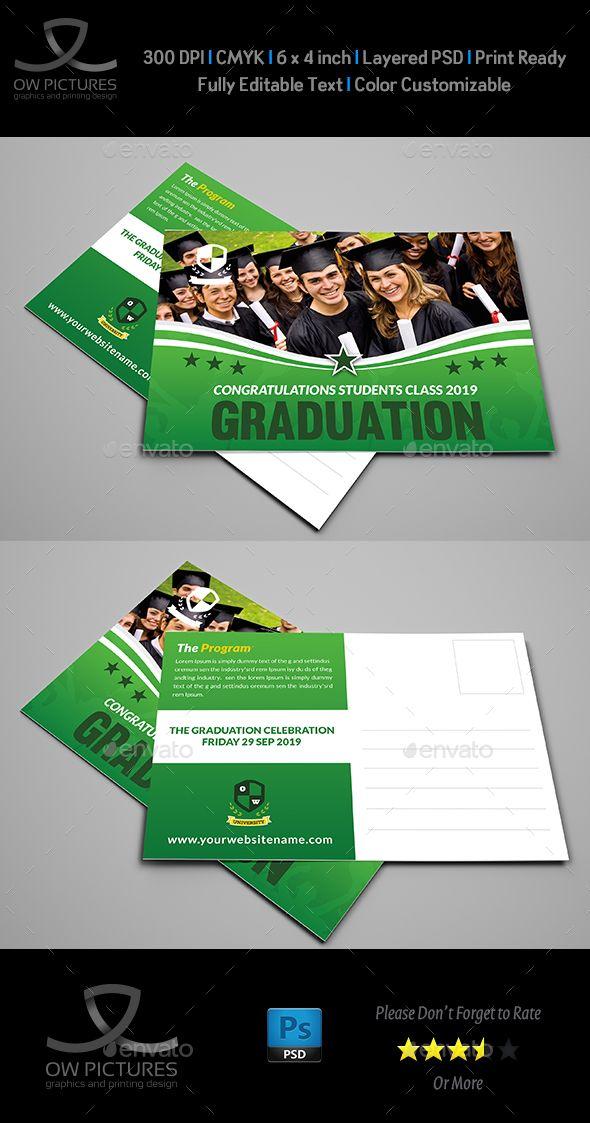Graduation Postcard Template Postcard Template Template And - Graduation postcard template