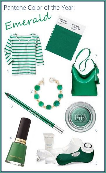 Pantone 2013 Color of the Year: Emerald-inspired style and beauty on the blog. Luxe Glow.